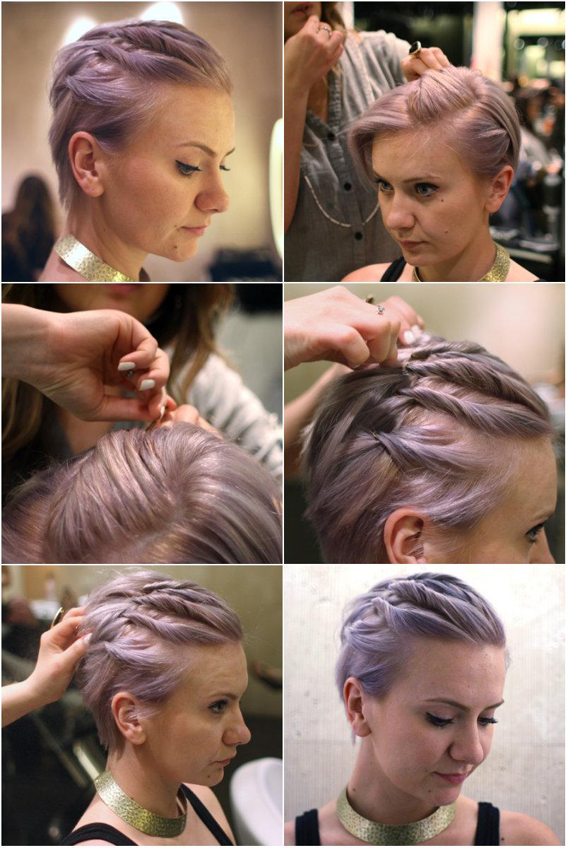 укладка на короткие волосы фото 2
