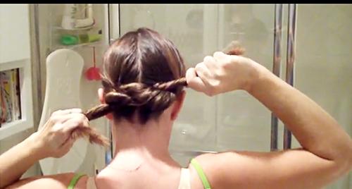 узел из волос