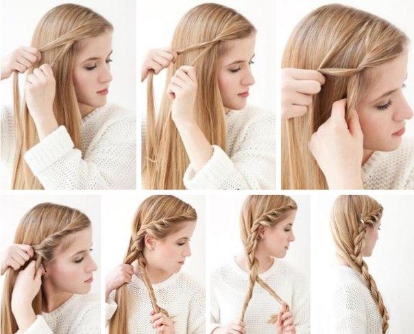 коса из жгутов
