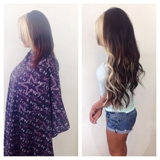 до и после наращивания волос