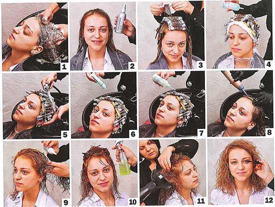 Крупная химическая завивка волос в домашних условиях