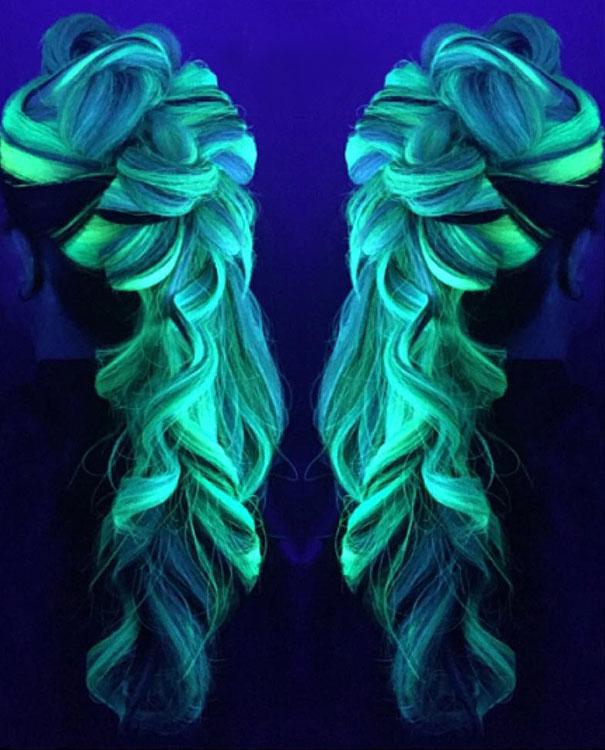 светящиеся волосы: фото 14