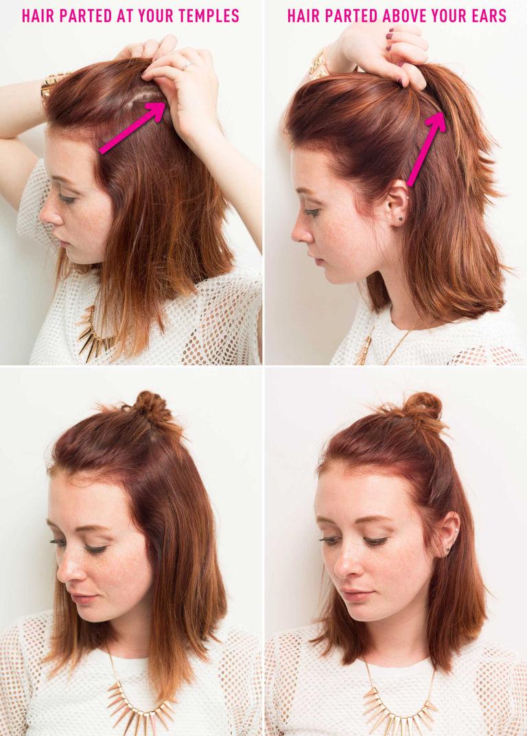 Как делать прчиеску хан на короткие волосы