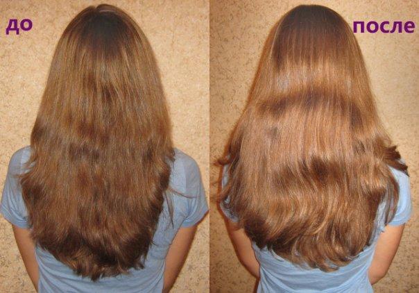 аспирин для волос до после