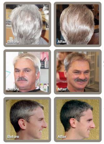 камуфлирование седых волос