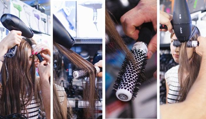 вытягивание волос брашинг