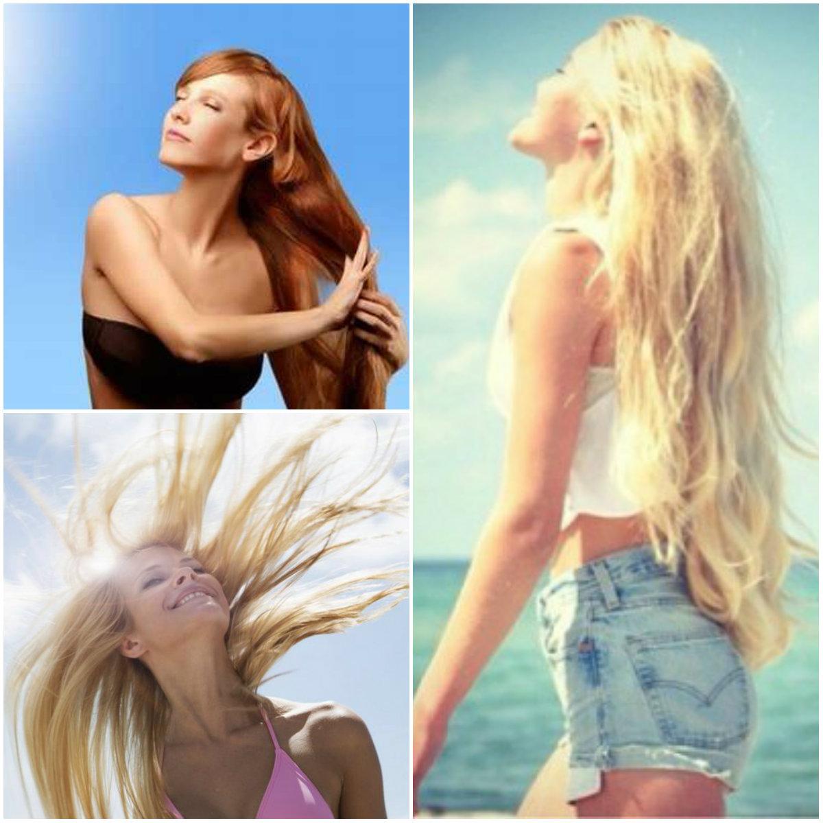 волосы солнце
