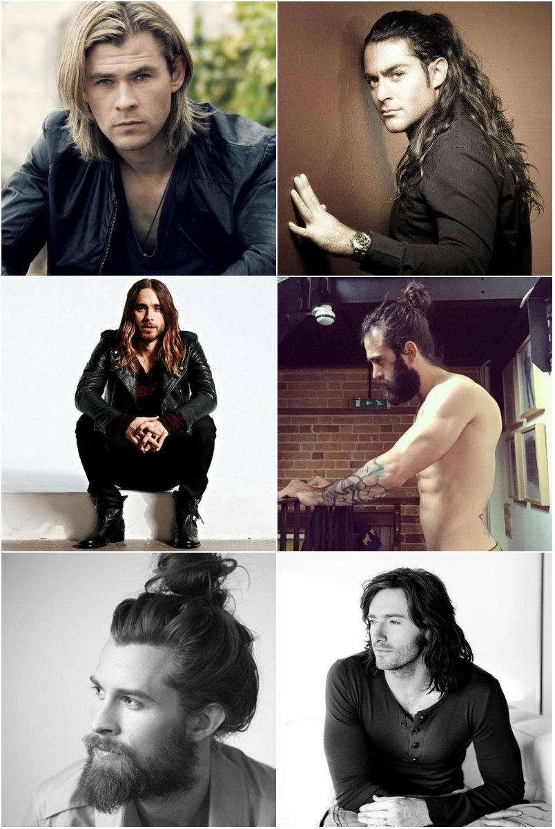 мужчины с длинными волосами