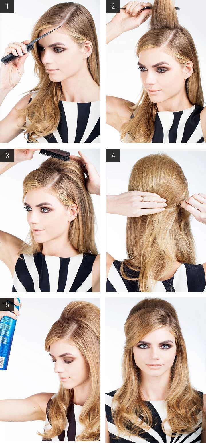 Прически начесы на средние волосы фото