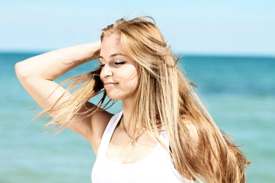 волосы летом