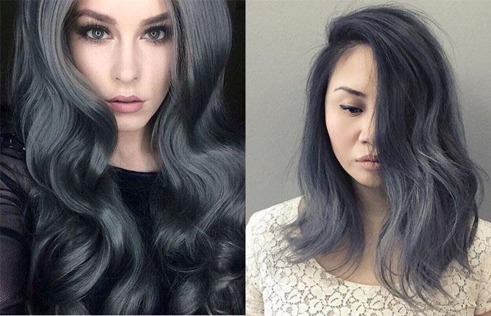 холодный графитовый цвет волос