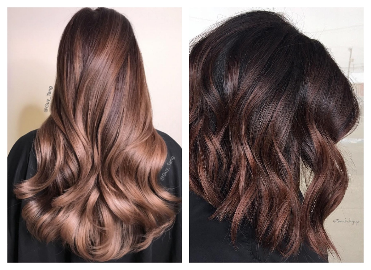 холодный шоколадный цвет волос
