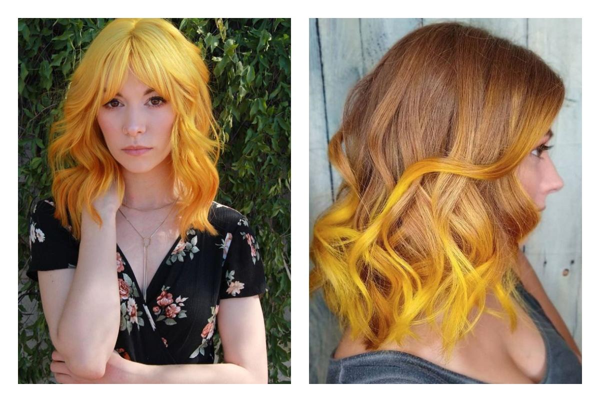 шикарные рыжевато-желтые волосы