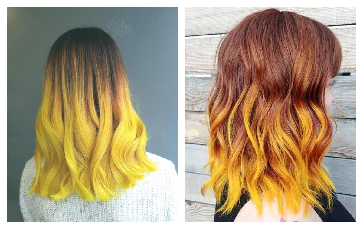 два варианта цвета: ярко-желтый и градиент горчичный