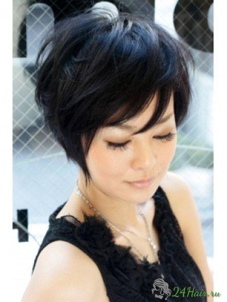 Тёмные волосы короткая стрижка