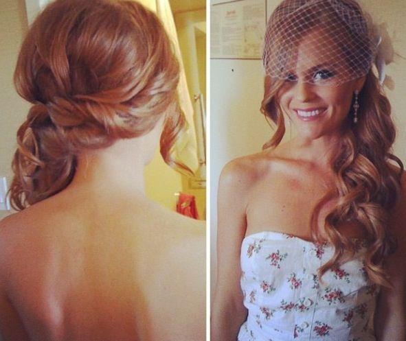 свадебная прическа для длинных волос фото 5