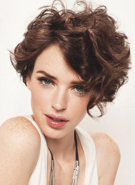 Trendy-Short-Curly-Brown-Haircuts