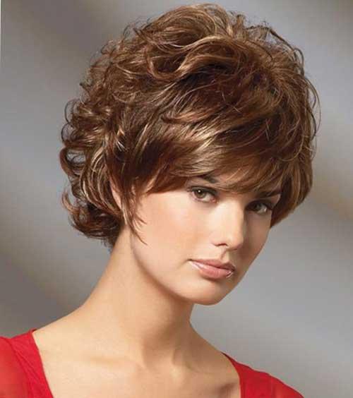 Стрижка волнистые волосы челкой фото