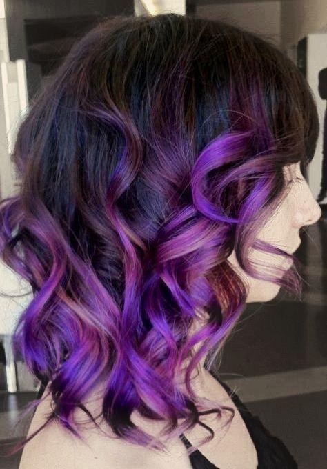 омбре фиолетовое