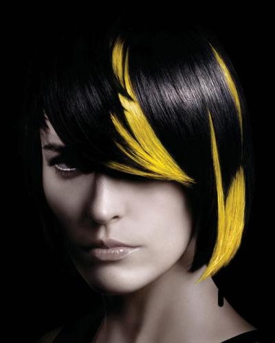 yellow-black-hair