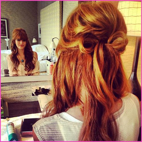 прическа бант из волос3