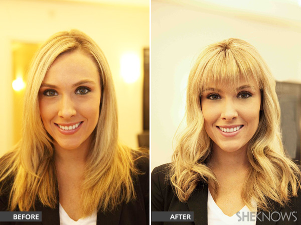 before-and-after-picture-featuring-clip-in-bang-piece