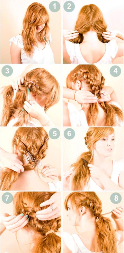 Плетение кос Пошаговое фото и инструкция для начинающих 89