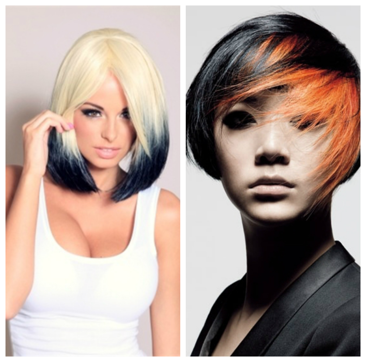 Покраска волос в два цвета: фото 4