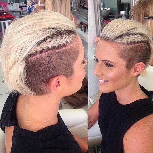 Стрижки с выбритыми висками: заплети косу