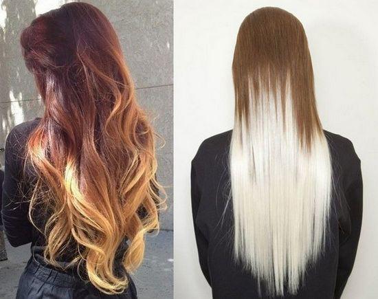 Покраска волос в два цвета: фото 14