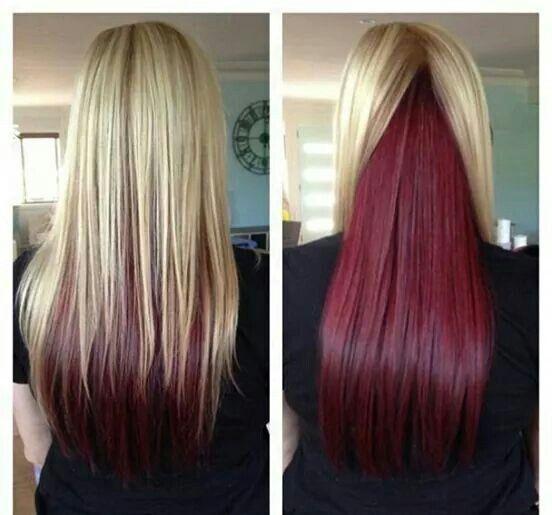 Покраска волос в два цвета: фото 11