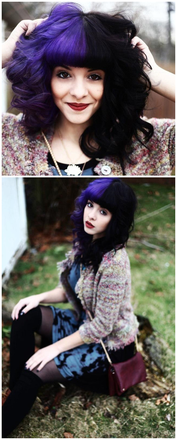 Покраска волос в два цвета: фото 23