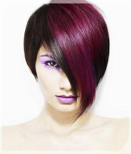 Волосы двух цветов