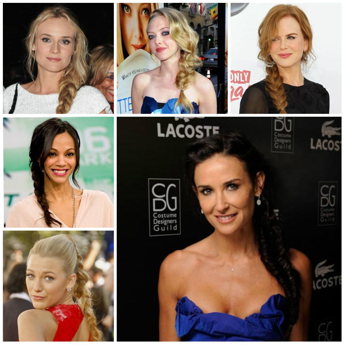 Прически Голливуда: косы