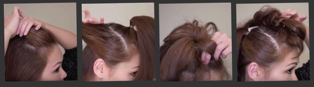 Как делать прическу Кайзы на волосах средней длины