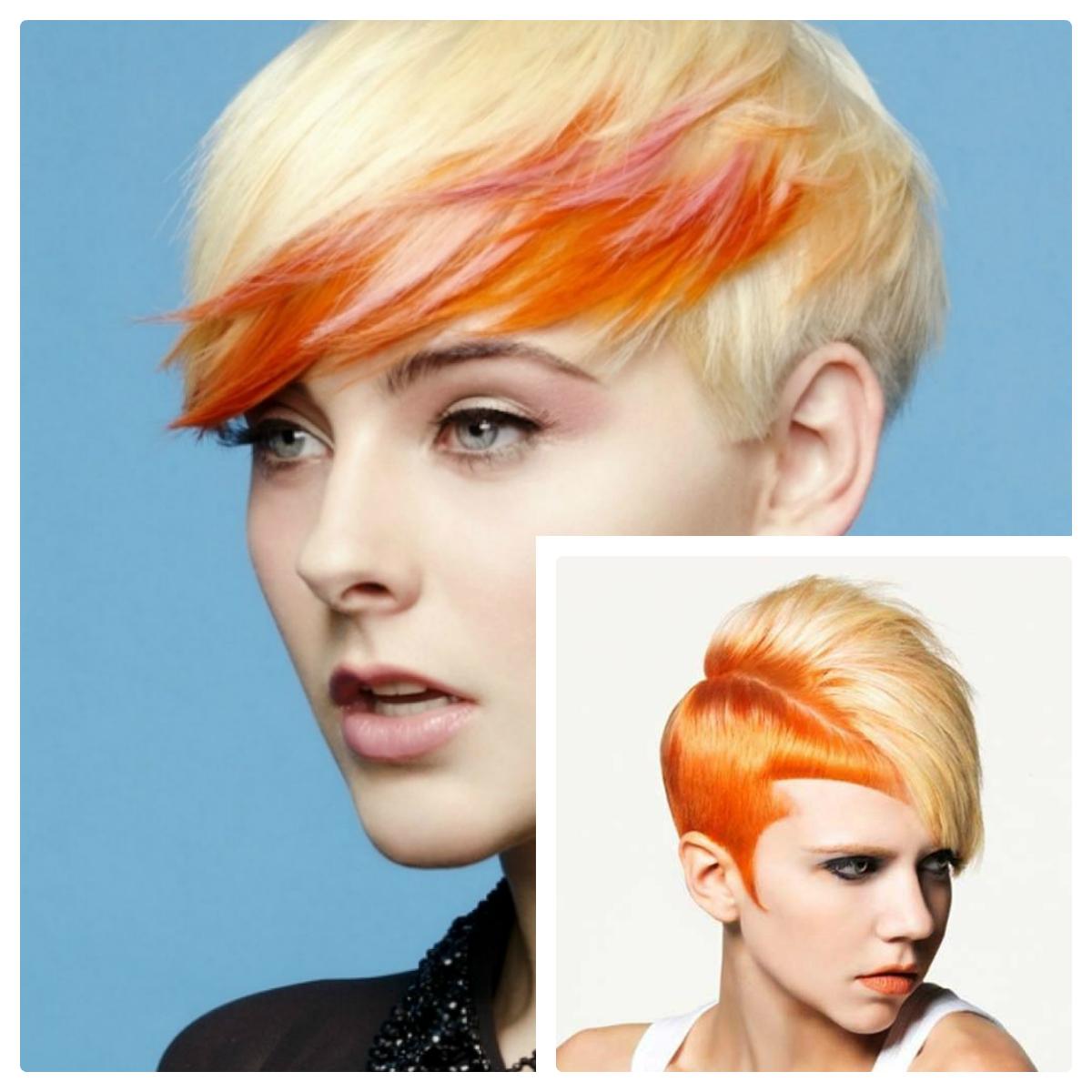 Покраска волос в два цвета: фото 1