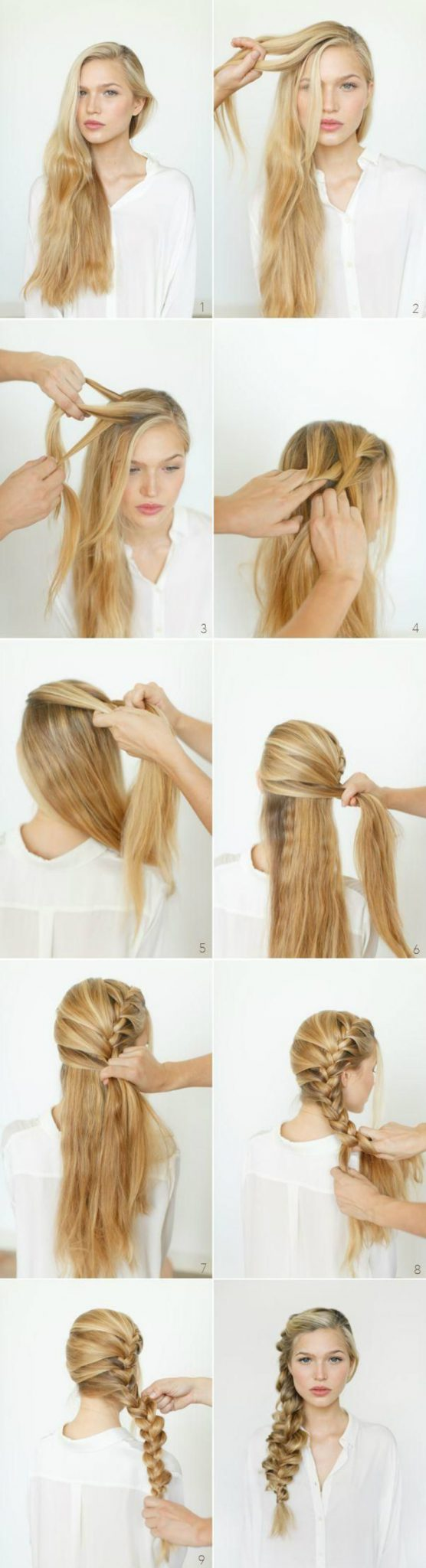 Как сделать косу на бок