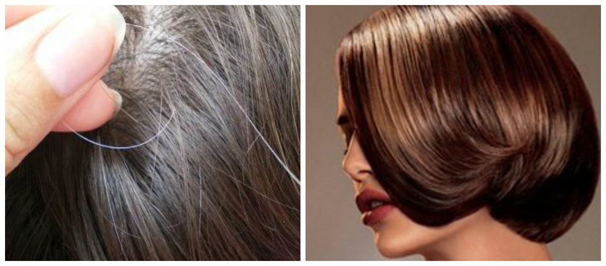 Тонкости окрашивания волос: седина