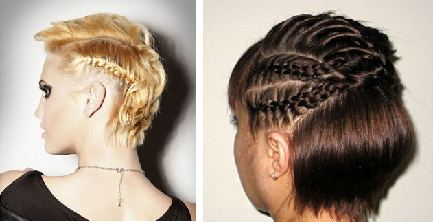 Косички на короткие волосы: фото 23