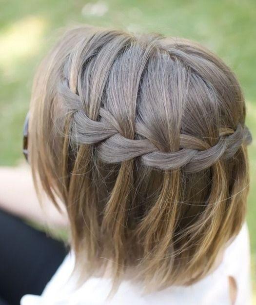 Косички на короткие волосы: фото 29