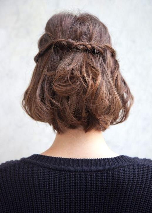 Косички на короткие волосы: фото 9