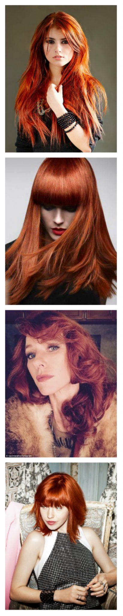 Модное окрашивание волос: медь
