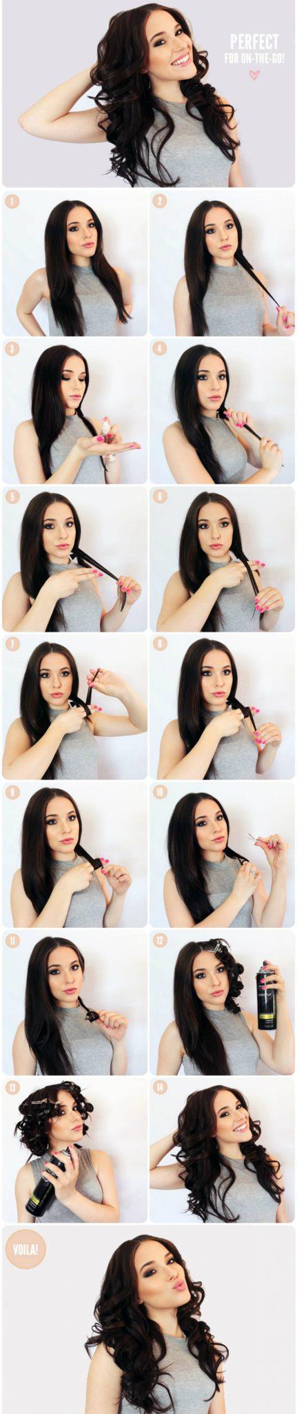 Прически с локонами для длинных волос:1