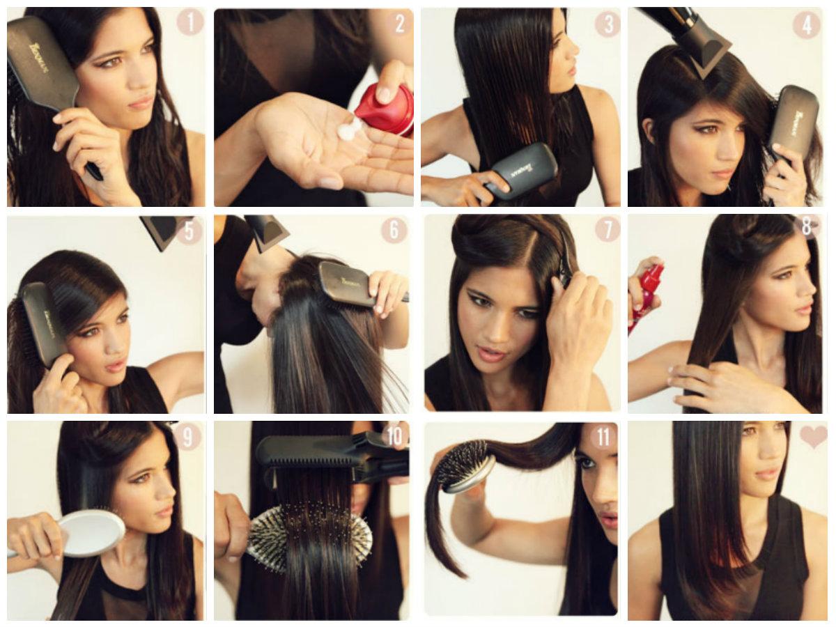 Как завить кончики волос