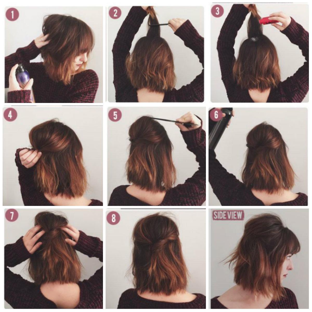 Быстрая укладка волос до плеч