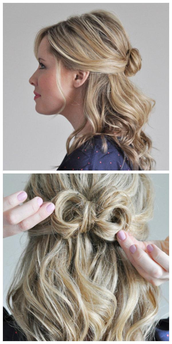 Укладка на волосы до плеч