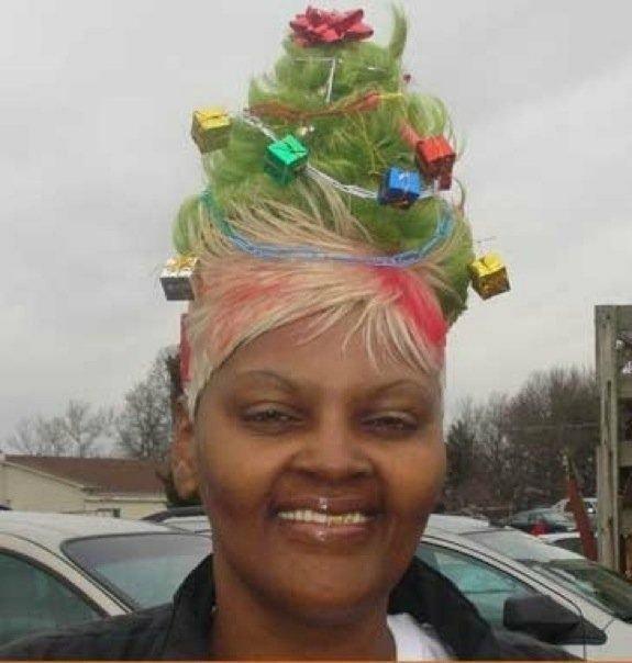 Необычные новогодние прически: фото 6