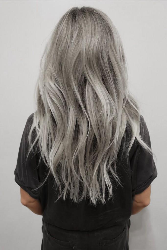 Модные цвет волос 2016: пепельный