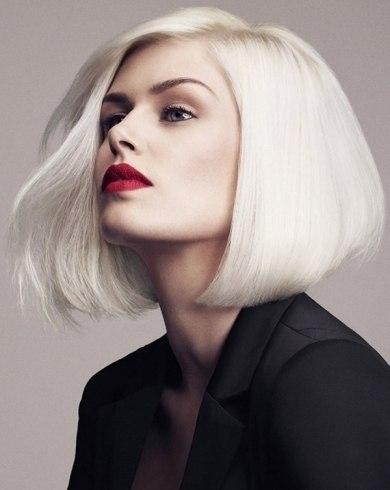 Модный цвет волос: платина