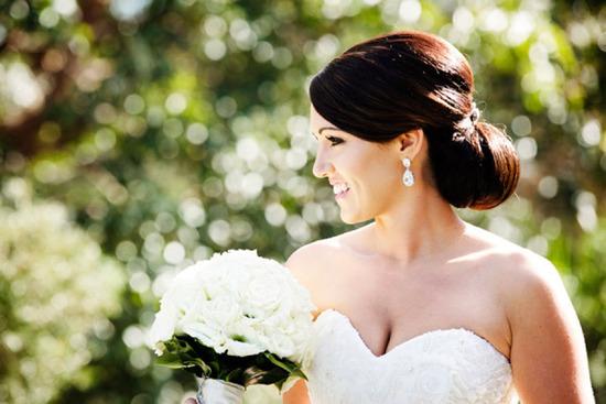 Свадебные прически: пучок